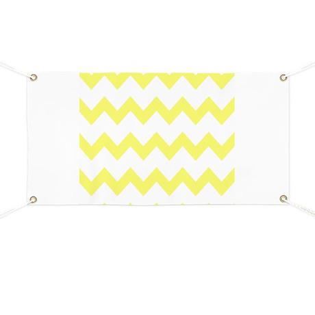 Yellow White Chevrons Banner