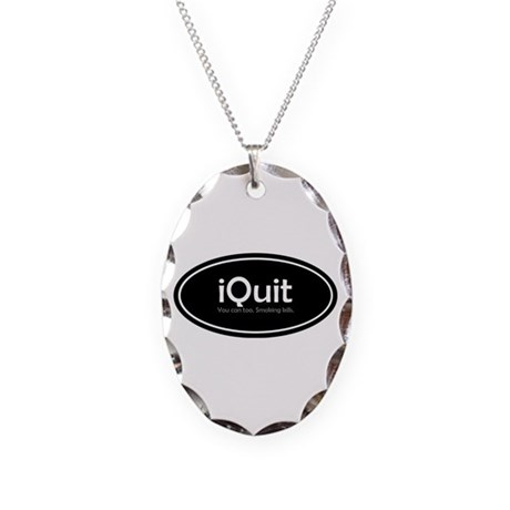TF Designs, iQuit Necklace Oval Charm