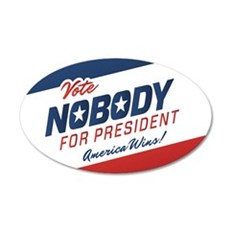 Nobody for President Wall Decal