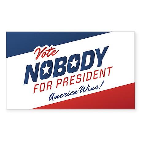 Nobody for President Sticker (Rectangle)