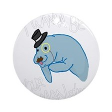 MANatee Ornament (Round)