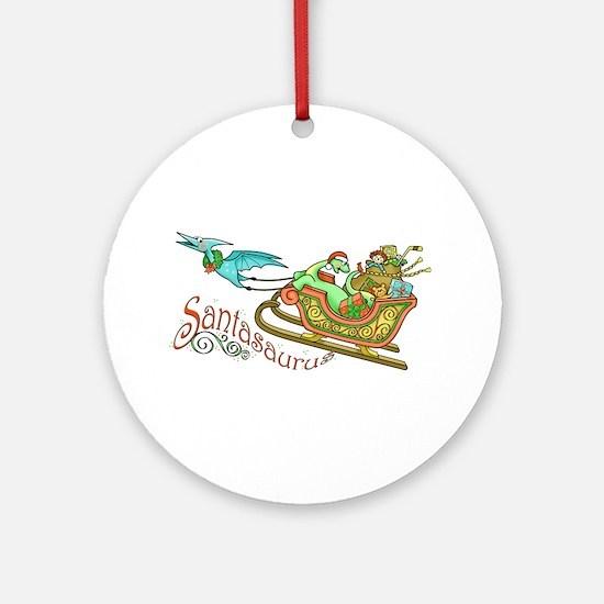 Santasaurus Ornament (Round)