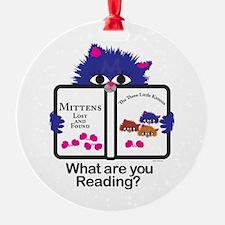 Reading Kitten Ornament