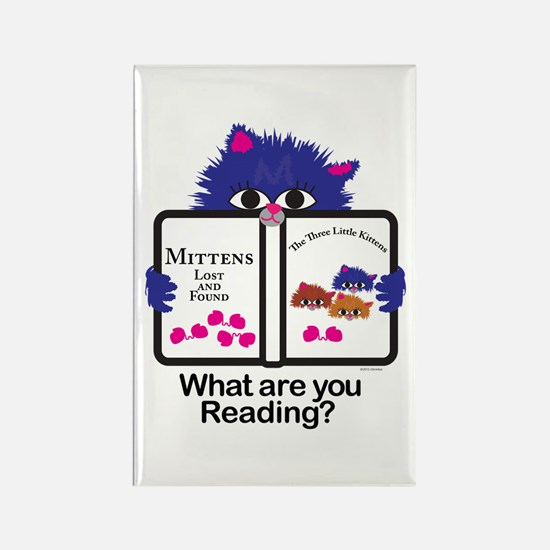 Reading Kitten Rectangle Magnet (10 pack)