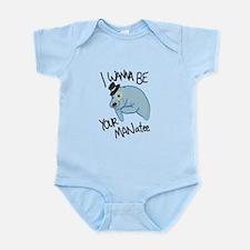 MANatee Black Infant Bodysuit