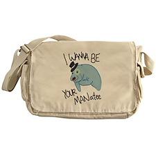 MANatee Black Messenger Bag