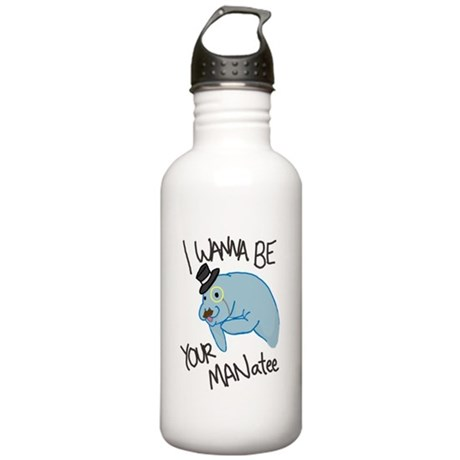 MANatee Black Stainless Water Bottle 1.0L