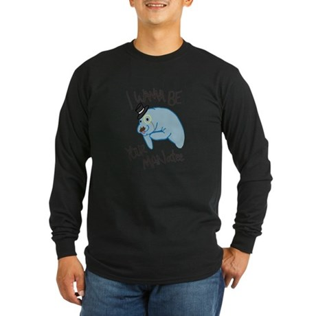 MANatee Black Long Sleeve Dark T-Shirt