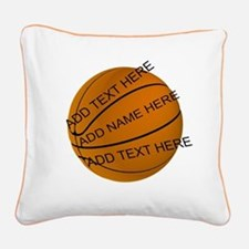 Basketball Square Canvas Pillow