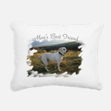 Mans best friend a lab Rectangular Canvas Pillow