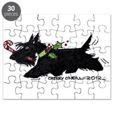 Scottie Candy Cane Puzzle
