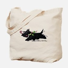 Scottie Candy Cane Tote Bag