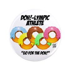 """""""DOH!-LYMPIC ATHLETE"""" 3.5"""" Button (100 pack)"""