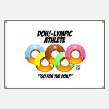 """DOH!-LYMPIC ATHLETE"" Banner"