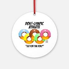 """DOH!-LYMPIC ATHLETE"" Ornament (Round)"