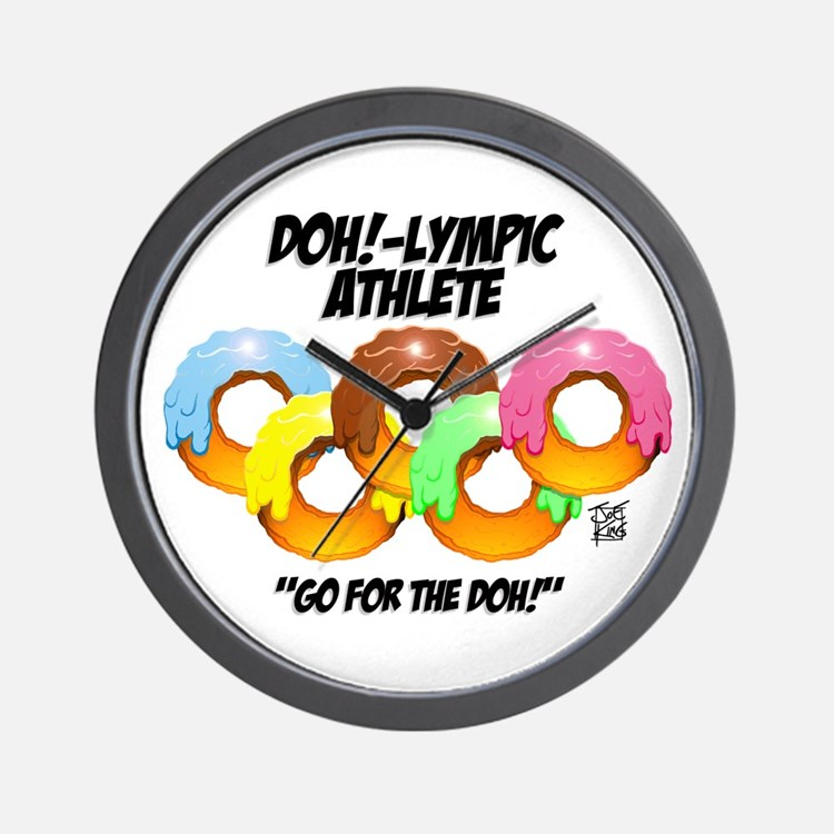 """DOH!-LYMPIC ATHLETE"" Wall Clock"