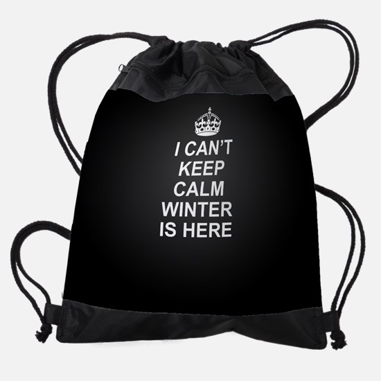 Keep Calm Winter Is Here Drawstring Bag