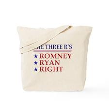 Three R's Romney Ryan Right Tote Bag