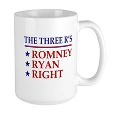 Three R's Romney Ryan Right Mug