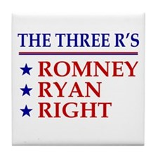 Three R's Romney Ryan Right Tile Coaster