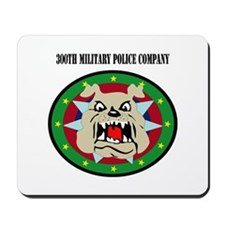 DUI - 300th Military Police Co with text Mousepad