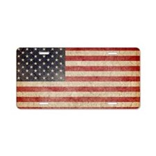 US Faded Flag Aluminum License Plate