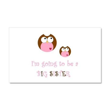 Big Sister Owl Car Magnet 20 x 12