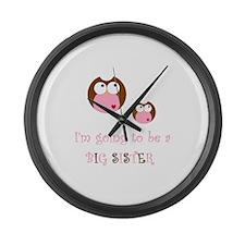 Big Sister Owl Large Wall Clock