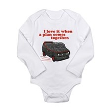 A-Team van & quote Infant Creeper Long Sleeve Infa