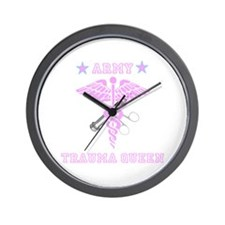 Army Trauma Queen Wall Clock