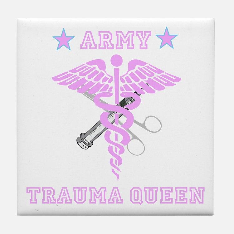 Army Trauma Queen Tile Coaster