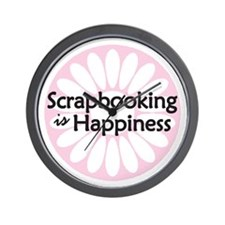 Scrapbooking is Happiness Wall Clock