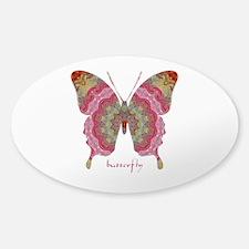Sweetness Butterfly Sticker (Oval)