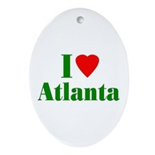 I Love Atlanta Oval Ornament