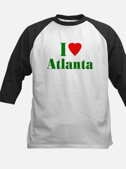 I Love Atlanta Kids Baseball Jersey