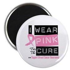 Pink Cure Breast Cancer Magnet