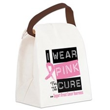 Pink Cure Breast Cancer Canvas Lunch Bag