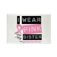 Pink Sister Breast Cancer Rectangle Magnet