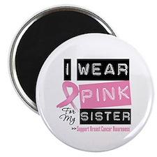 Pink Sister Breast Cancer Magnet