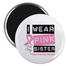 """Pink Sister Breast Cancer 2.25"""" Magnet (10 pack)"""