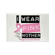 Pink Mother Breast Cancer Rectangle Magnet