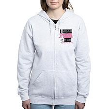 Pink Mom Breast Cancer Zip Hoodie