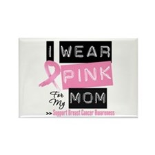 Pink Mom Breast Cancer Rectangle Magnet