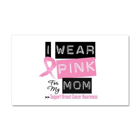 Pink Mom Breast Cancer Car Magnet 20 x 12