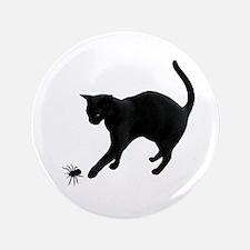 """Black Cat Spider 3.5"""" Button"""