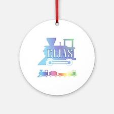 Elias Train Ornament (Round)