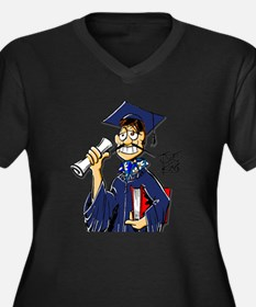 """THAT GRADUATE GUY"" Women's Plus Size V-Neck Dark"