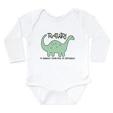 'Dinosaur Rawr' Long Sleeve Infant Bodysuit