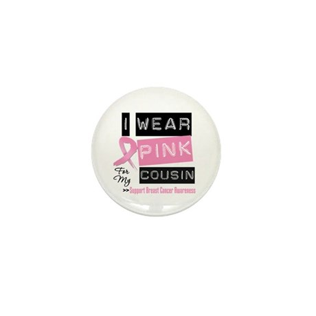 Pink Cousin Breast Cancer Mini Button