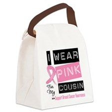 Pink Cousin Breast Cancer Canvas Lunch Bag